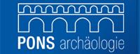 logo pons archäologie 200x77