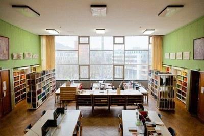 Bibliotheksraum mit Aussicht