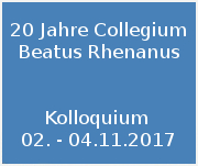 20 jahre  collegium beatus rhenanus