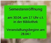 Semestereröffnung SS14